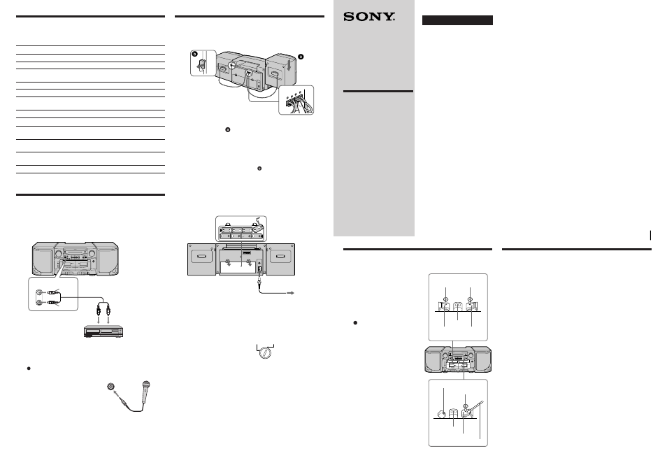 Sony CFS-717S User Manual | 2 pages