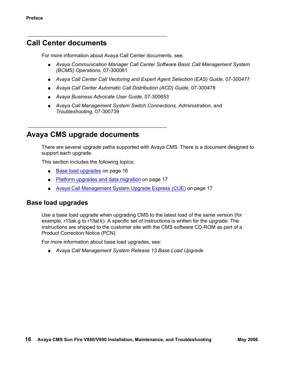 Call center documents, Avaya cms upgrade documents, Base