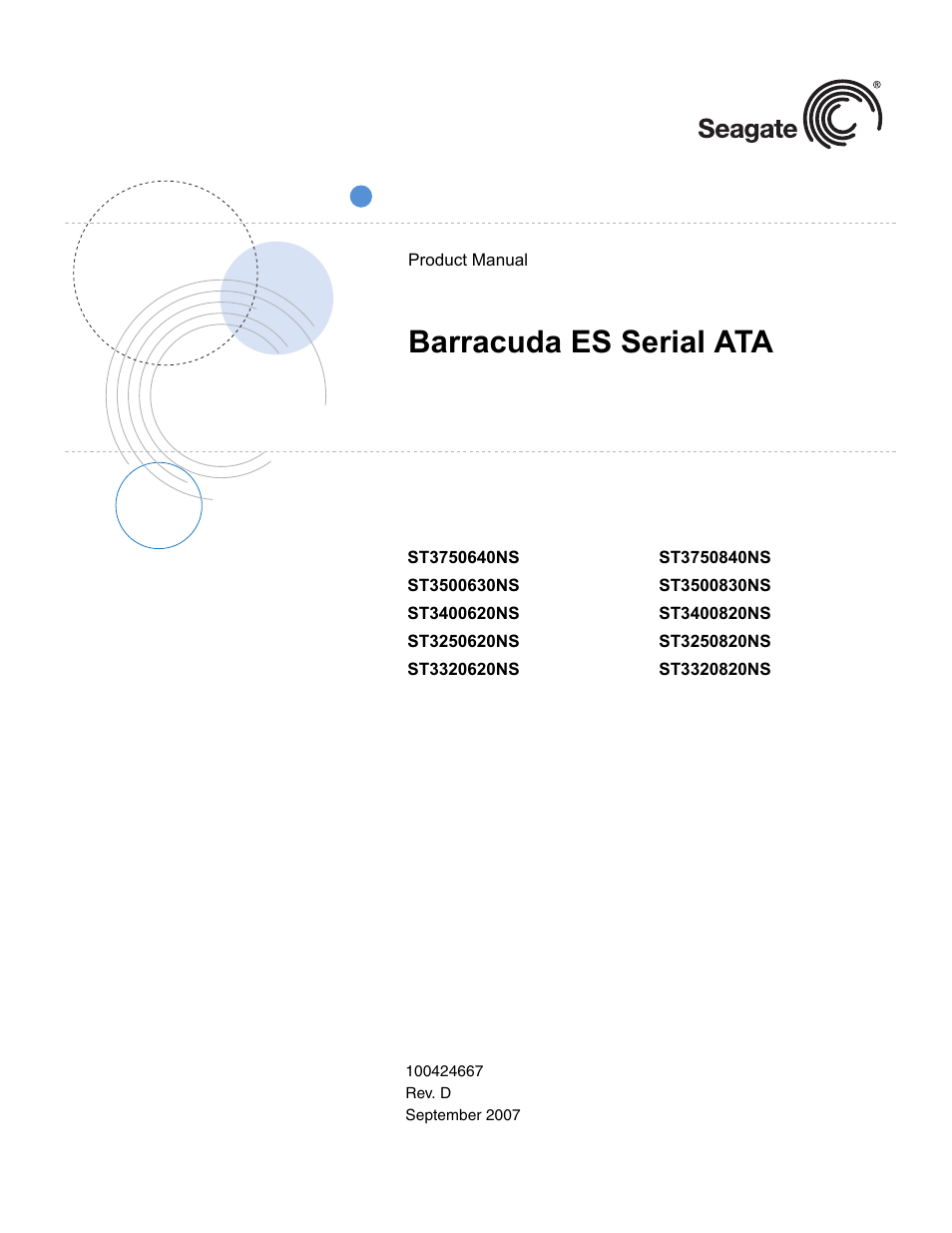 Seagate barracuda st3320413as user manual | 48 pages | also for.