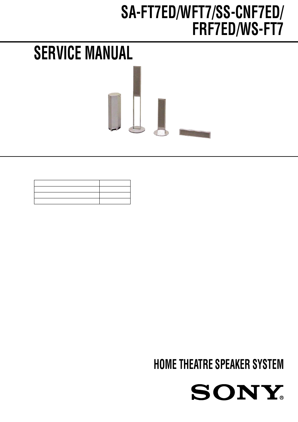Sony Sa Wft7 User Manual 48 Pages Aep Wiring Diagram