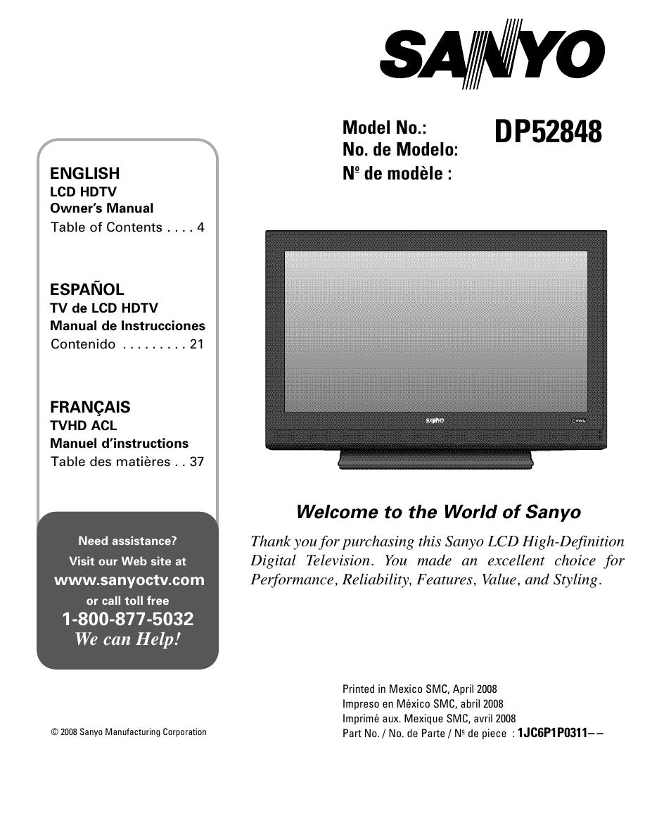 ... Array - sanyo dp52848 user manual 52 pages rh manualsdir ...