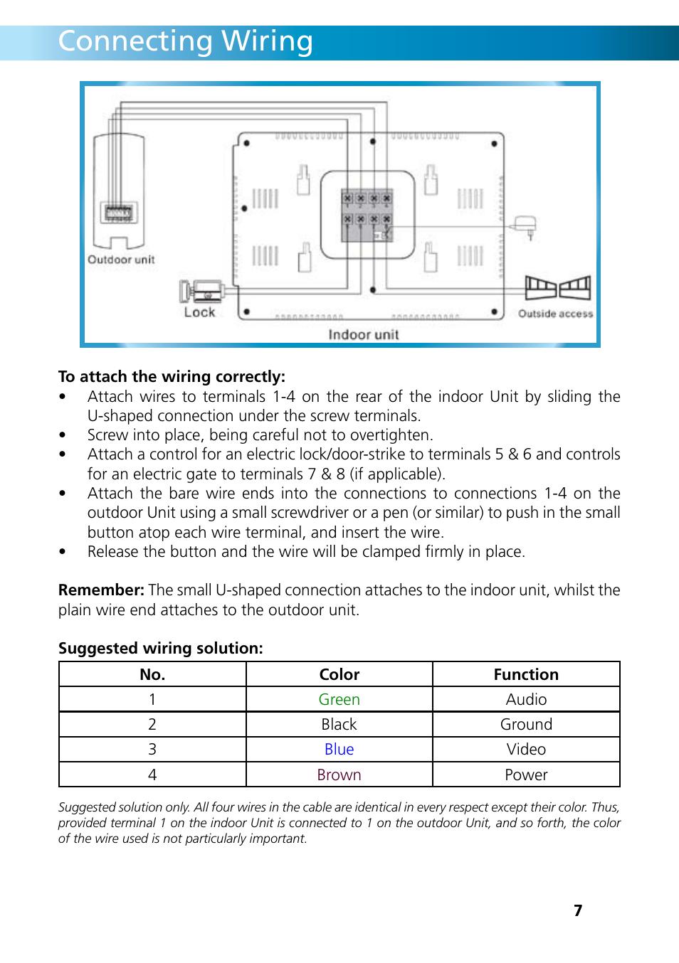 connecting wiring swann intercom db 815 user manual page 7 12 rh manualsdir com
