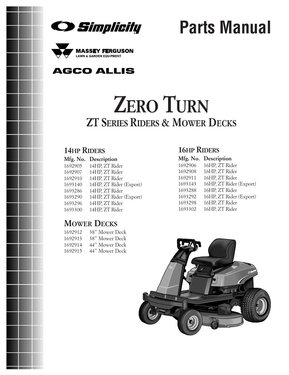 simplicity zero turn tp 400 2169 01 zt sma user manual 46 pages rh manualsdir com simplicity champion zero turn mower manual simplicity zero turn mower deck parts