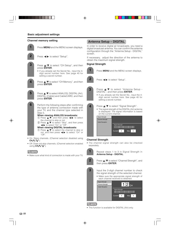 Antenna setup – digital | Sharp Aquos LC 32D4U User Manual