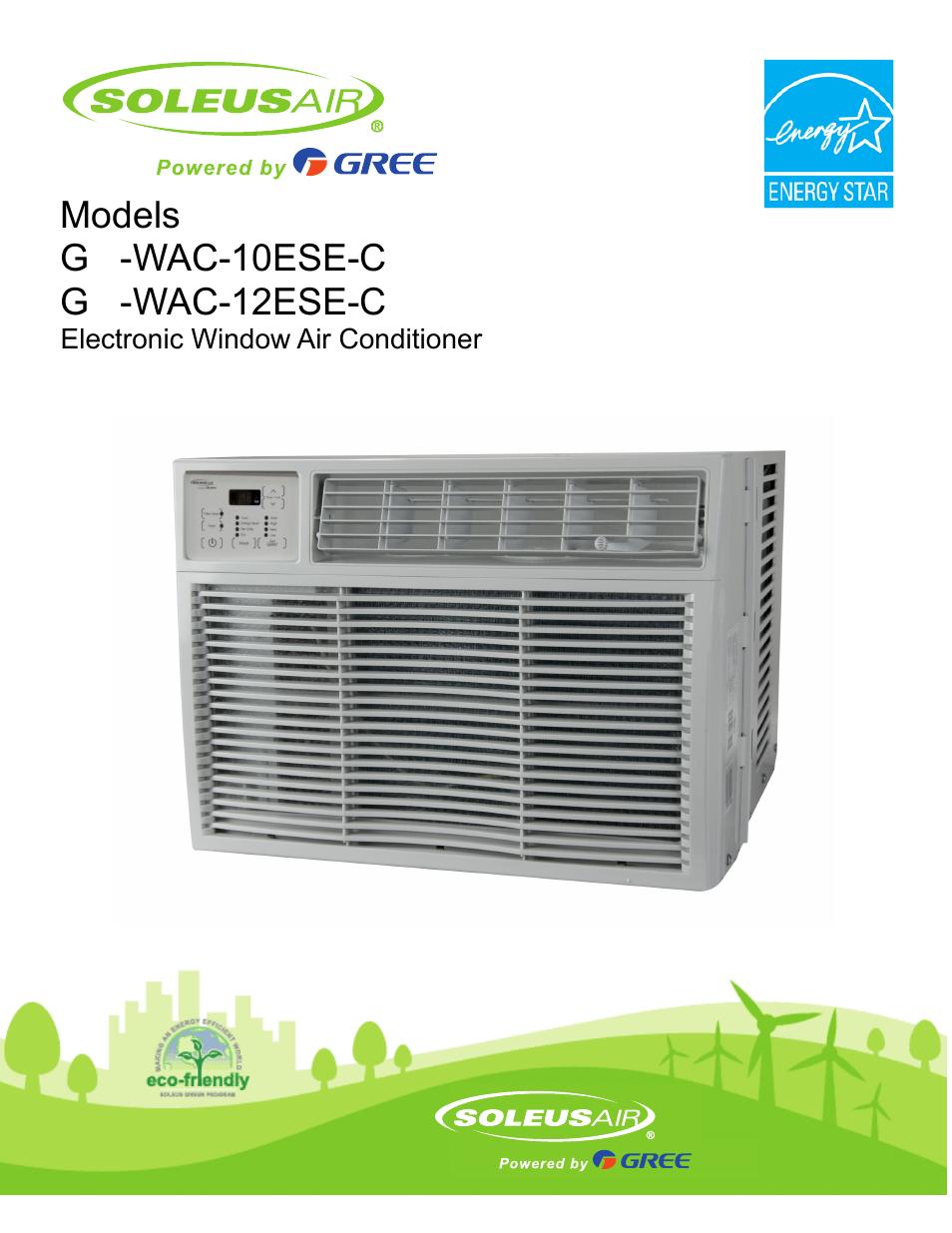 Soleus Air Electroni Window Air Conditioner GM-WAC-10ESE-C