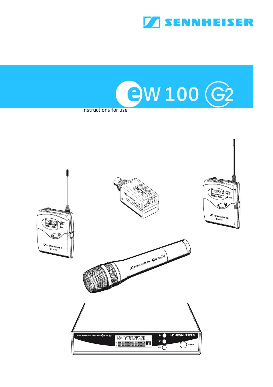 Sennheiser Ew100 G2 User Manual 47 Pages Microphone Wiring Diagram