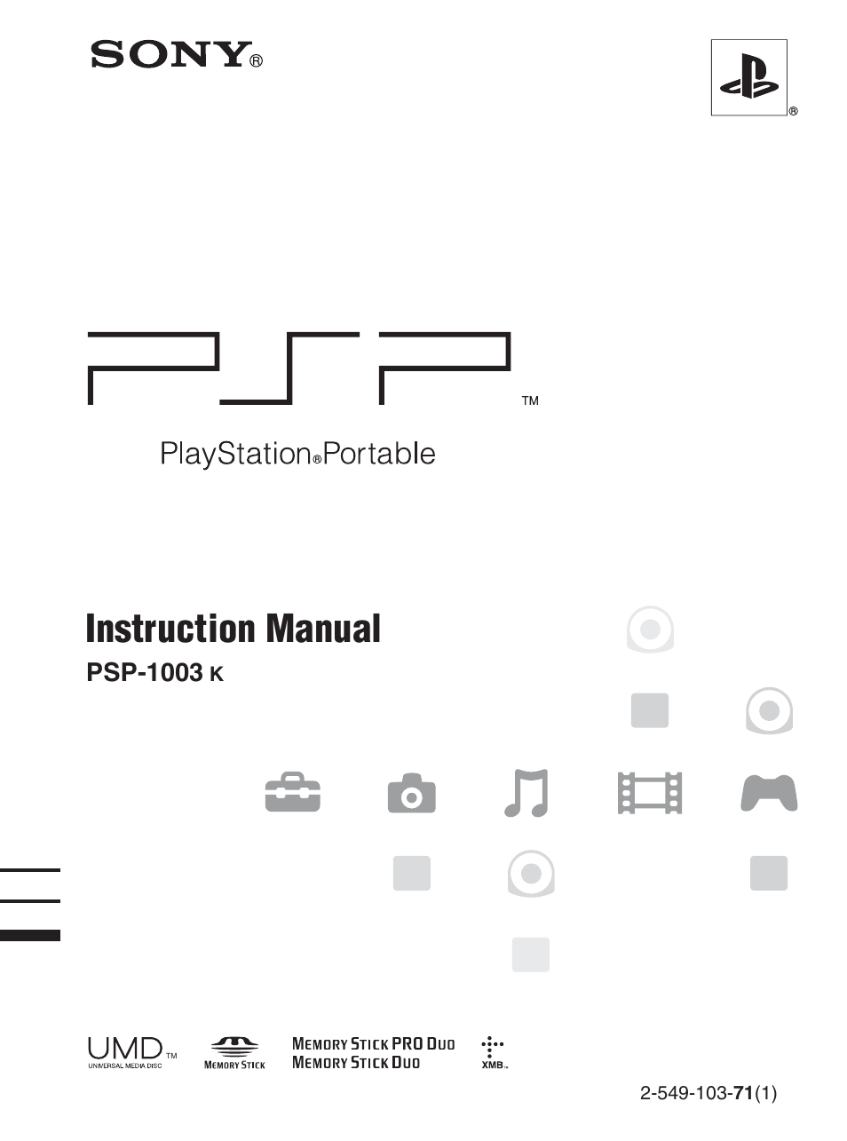 sony playstation portable psp 1003 k user manual 132 pages rh manualsdir com Sony PSP 2001 Manual psp 1001 manual