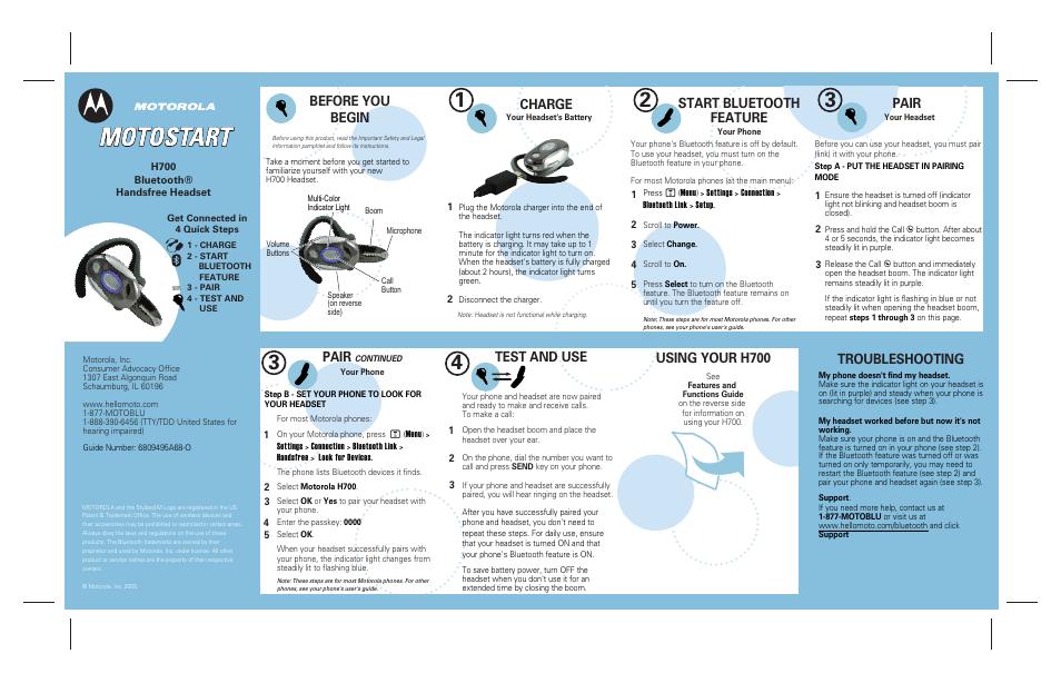 sharper image h700 user manual 2 pages original mode rh manualsdir com  motorola h700 user manual