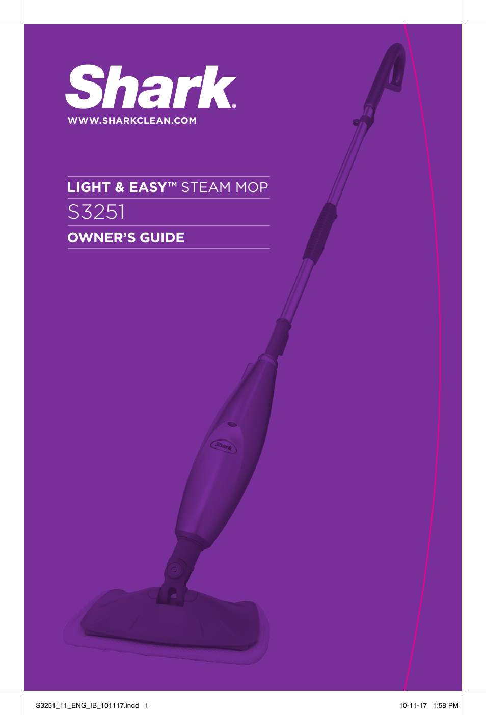 Shark Light Easy S3251 User Manual 20 Pages