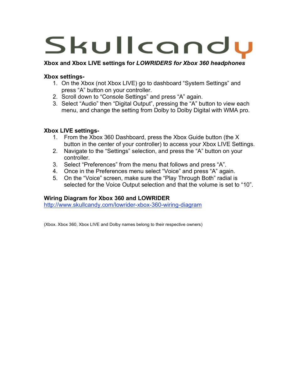 Skullcandy Wiring Diagram Library Circuit Glowing Headphones Mod Adafruit Lowriders User Manual 1 Page