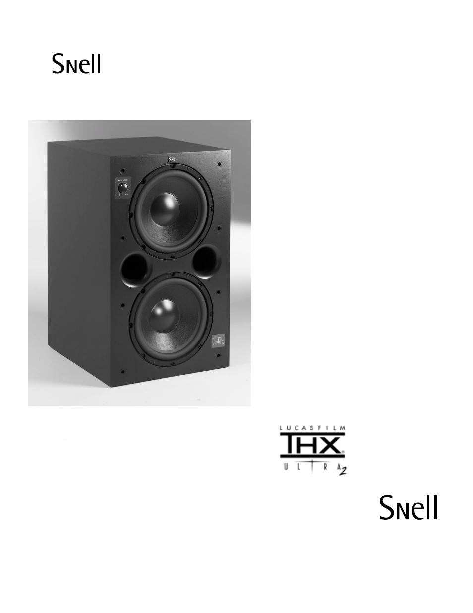 Snell Acoustics Powered Subwoofer ICS Sub 24 User Manual | 1