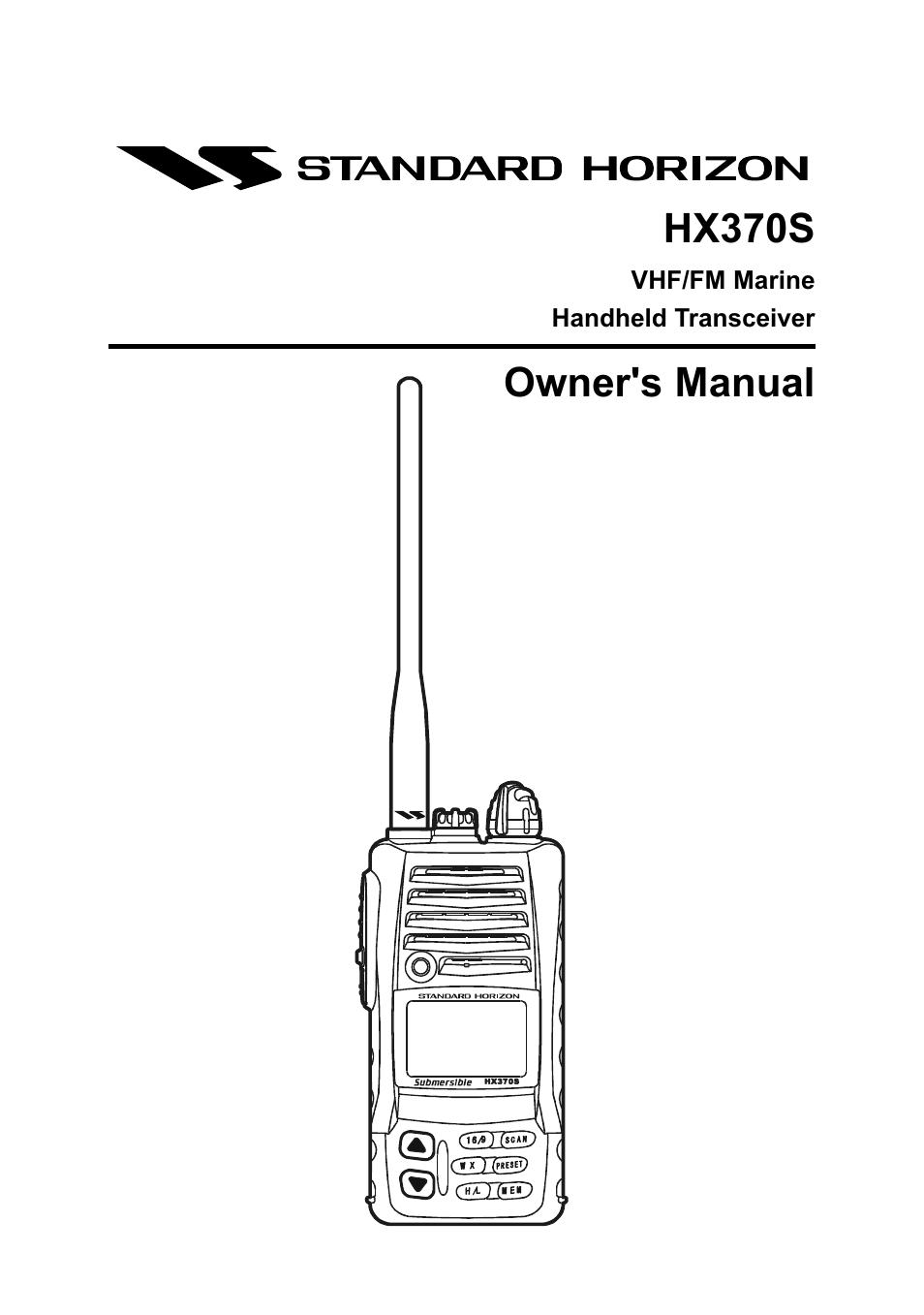standard horizon hx370s user manual 48 pages rh manualsdir com Standard Horizon Submersible HX370S standard horizon hx370s service manual