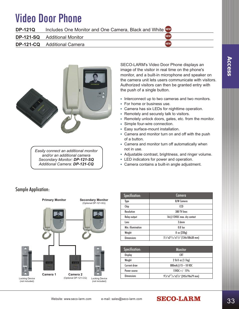 video door phone access sample application seco larm usa surface rh manualsdir com Owner's Manual User Manual PDF