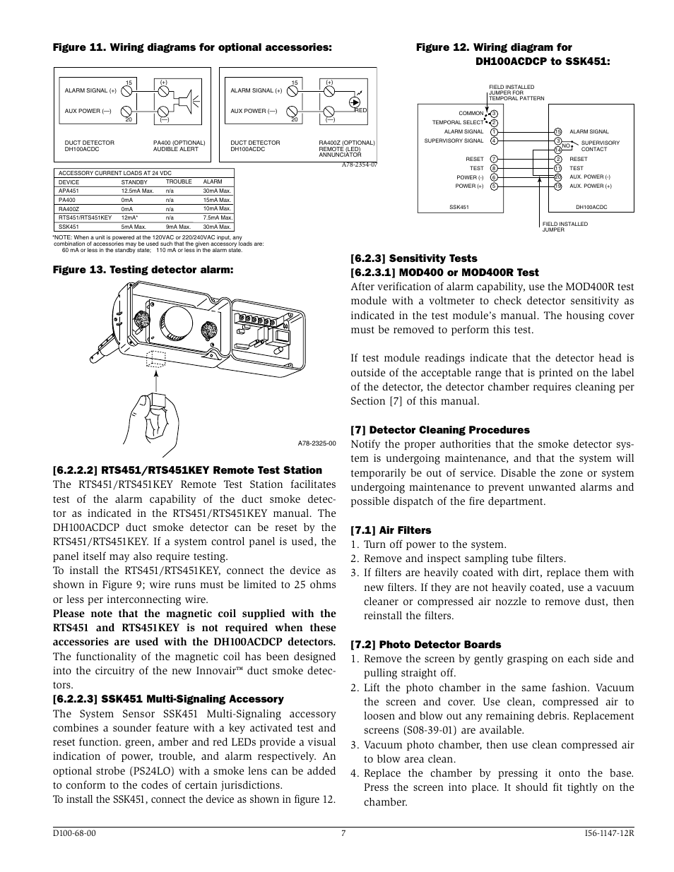 figure testing detector alarm system sensor innovair figure 13 testing detector alarm system sensor innovair dh100acdcp user manual page 7 8