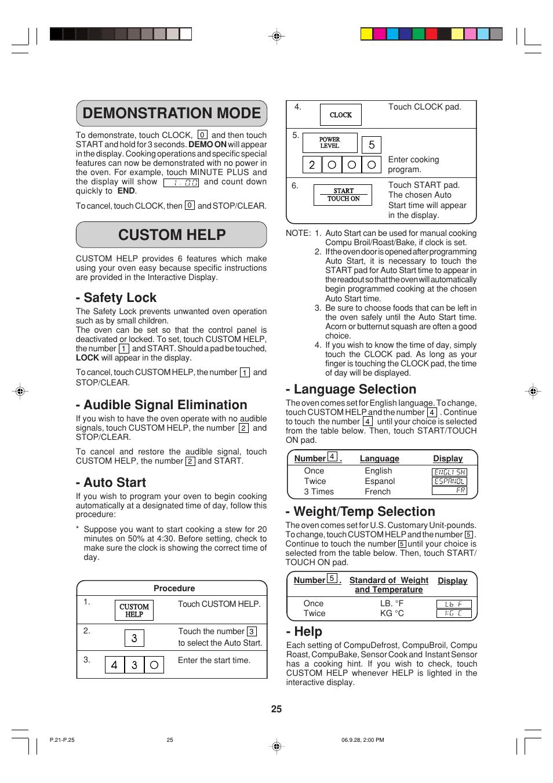 demonstration mode custom help safety lock audible signal rh manualsdir com Sharp R-930AK Label sharp carousel microwave r-930ak manual