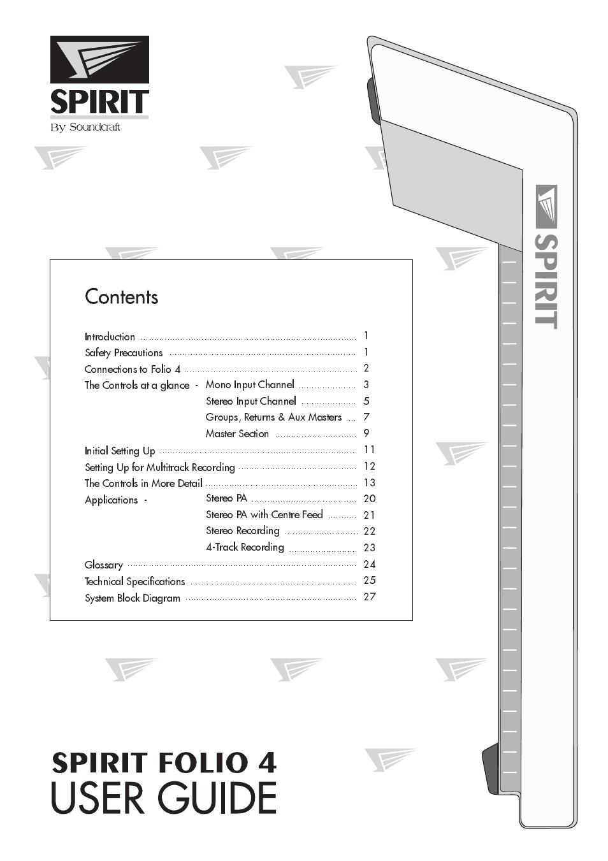 Soundcraft Spirit Folio User Manual Deere 1010 Parts Diagram In Addition John Dozer Track Array 4 28 Pages Rh Manualsdir