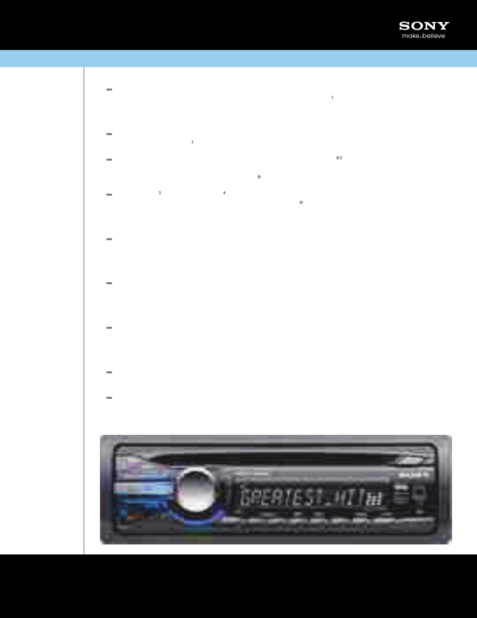 sony cdx-gt350mp user manual | 2 pages  manuals directory