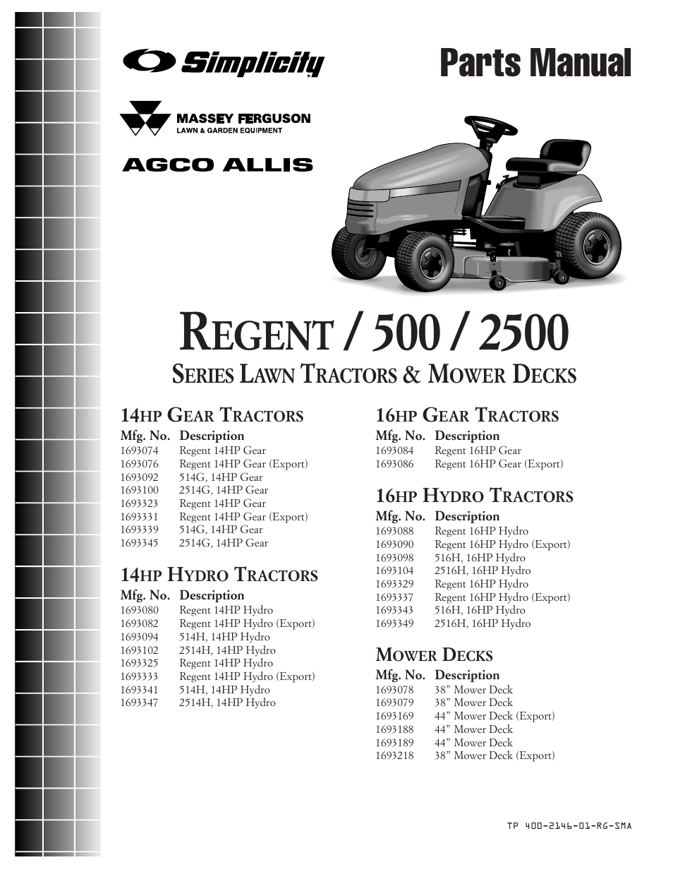 Simplicity REGENT 500 User Manual | 60 pages