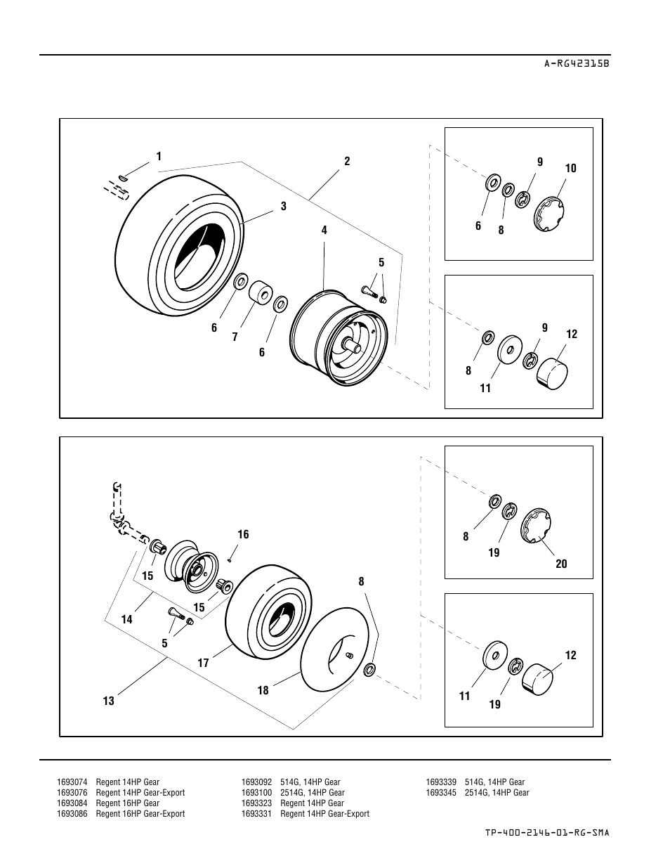 Gear models wheels & tires   Simplicity REGENT 500 User
