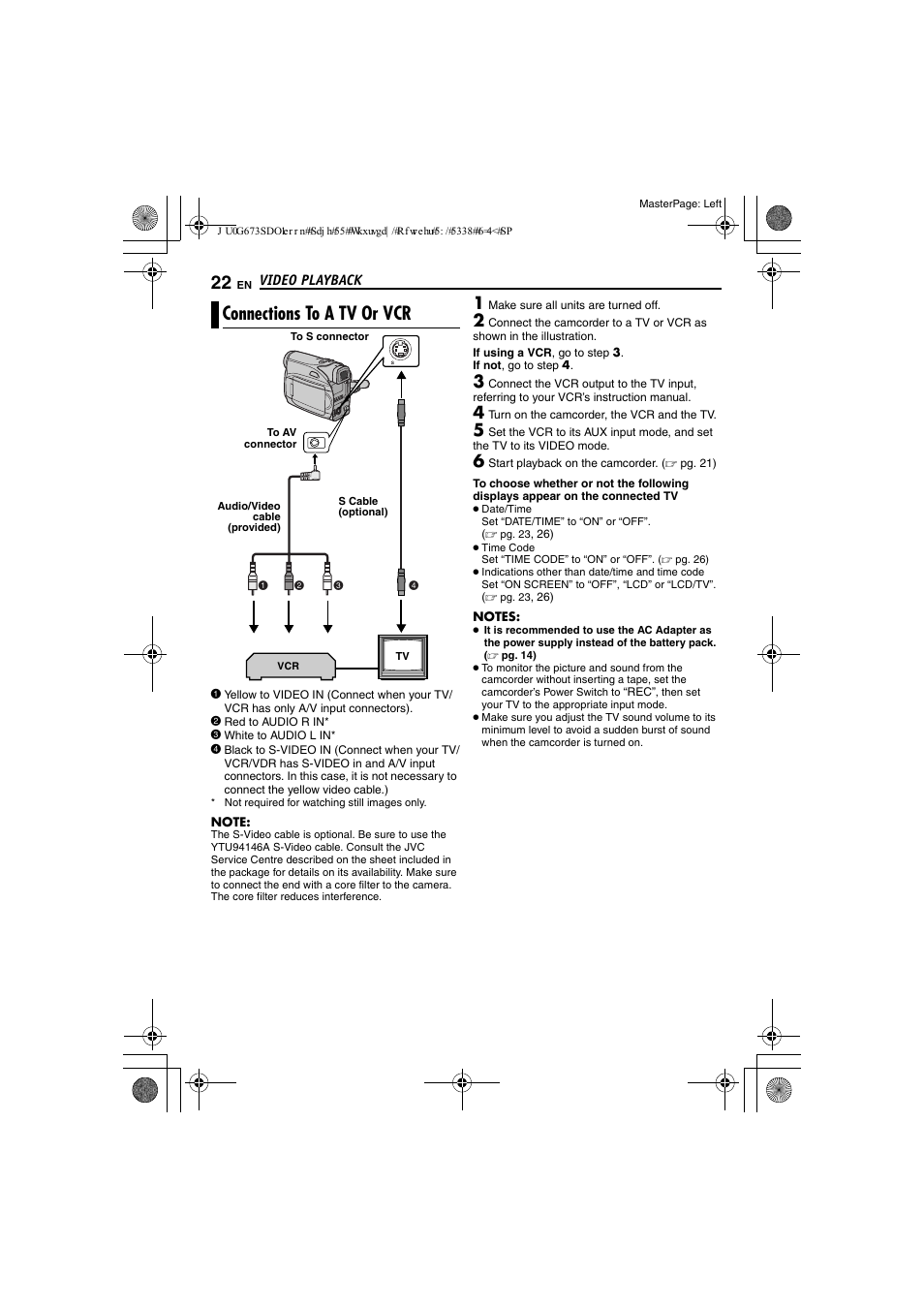 connections to a tv or vcr jvc gr d340ek user manual page 22 rh manualsdir com