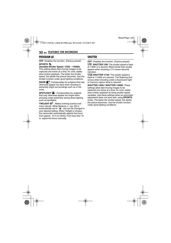 program ae shutter pg 32 jvc gr d340ek user manual page 32 44 rh manualsdir com