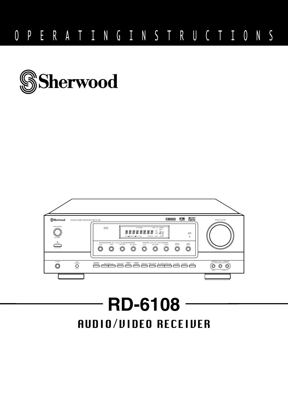 sherwood rd 6108 user manual 25 pages rh manualsdir com
