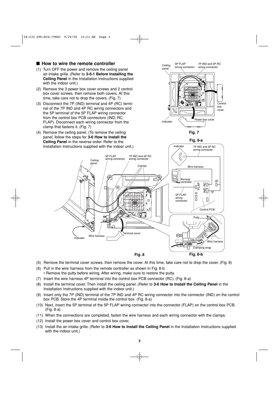 how to wire the remote controller sanyo dc inverter split system rh manualsdir com Sanyo Mini Split Service Manual sanyo air conditioner manual ks1251