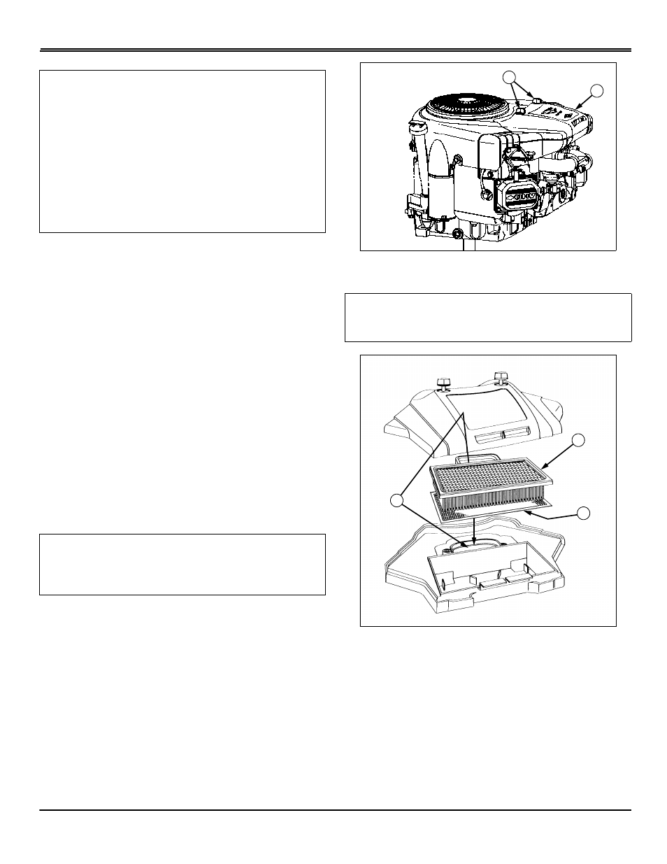 Air cleaner elements - s2046, Service engine   Scotts S1642 User Manual    Page 34