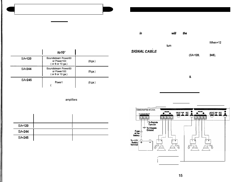 installation step 3, wiring, wiring diagram | soundstream technologies  sa 244 user manual | page 8 / 13