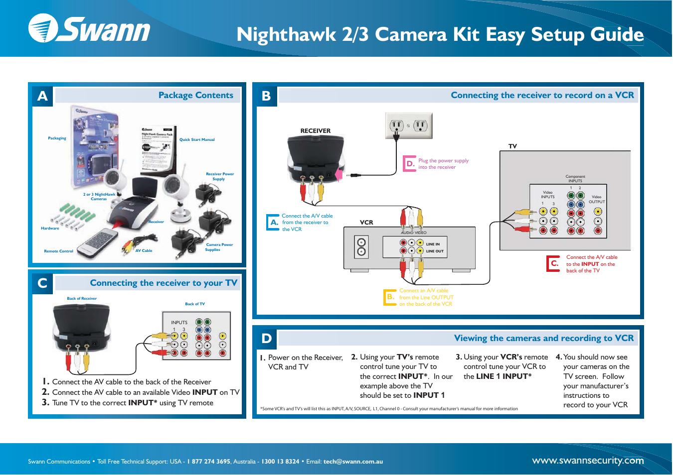 Swann NIGHTHAWK 3-Feb User Manual | 2 pages