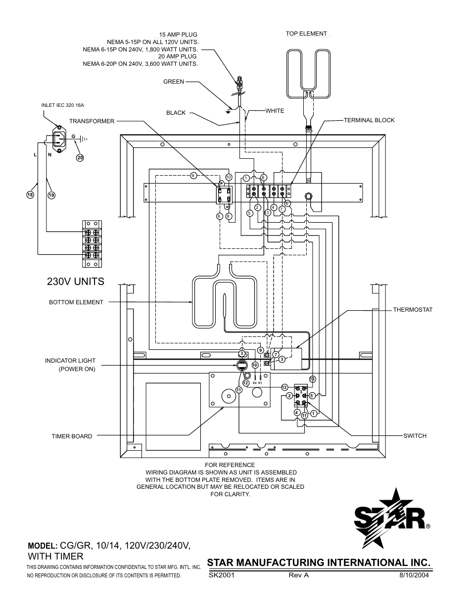 230v Units Star Manufacturing International Inc Model Nema 14 20r Wiring Diagram Pro Max Gr14 User Manual Page 20