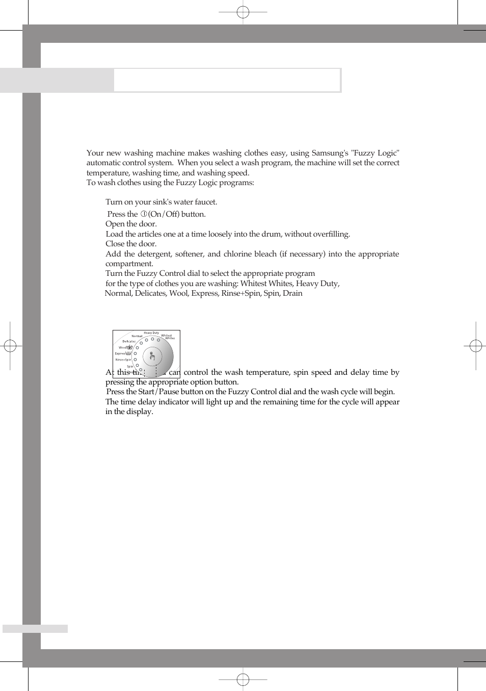 washing a load of laundry  washing clothes using fuzzy logic samsung b1113j user manual page samsung fuzzy washing machine manual Samsung Washing Machine Troubleshooting Manual