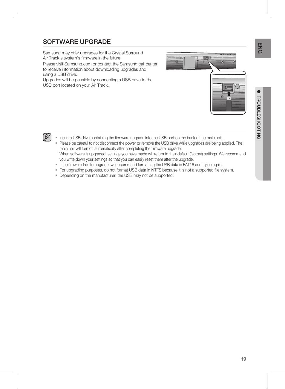 software upgrade samsung hw d450 za user manual page 19 24 rh manualsdir com samsung soundbar hw d450 user manual Samsung HW-D450 Audio