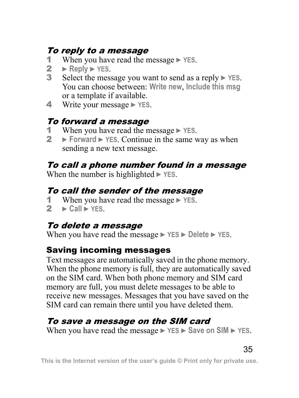 Sprint Nextel J23OI User Manual   Page 36 / 88