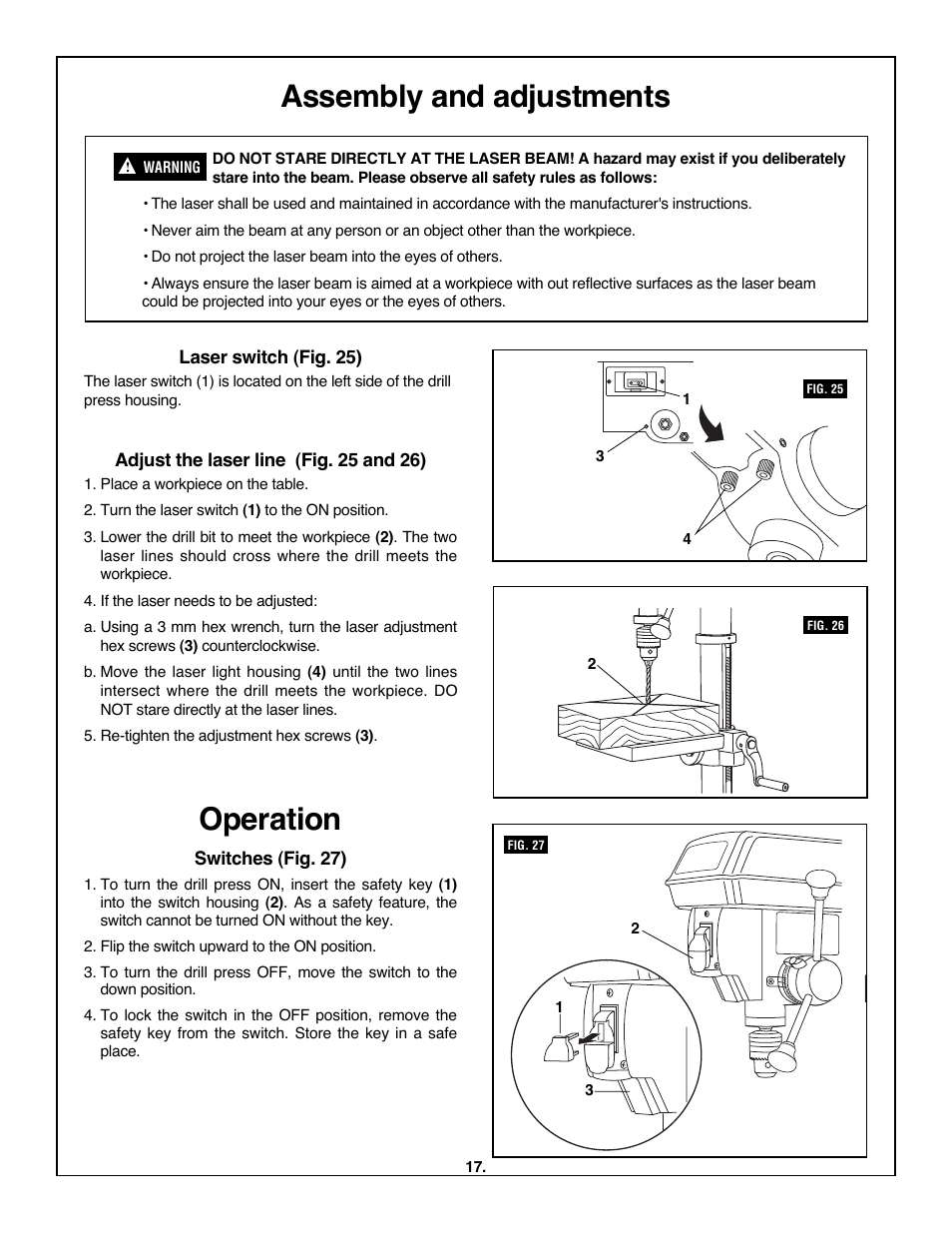 operation assembly and adjustments skil 3320 01 user manual rh manualsdir com