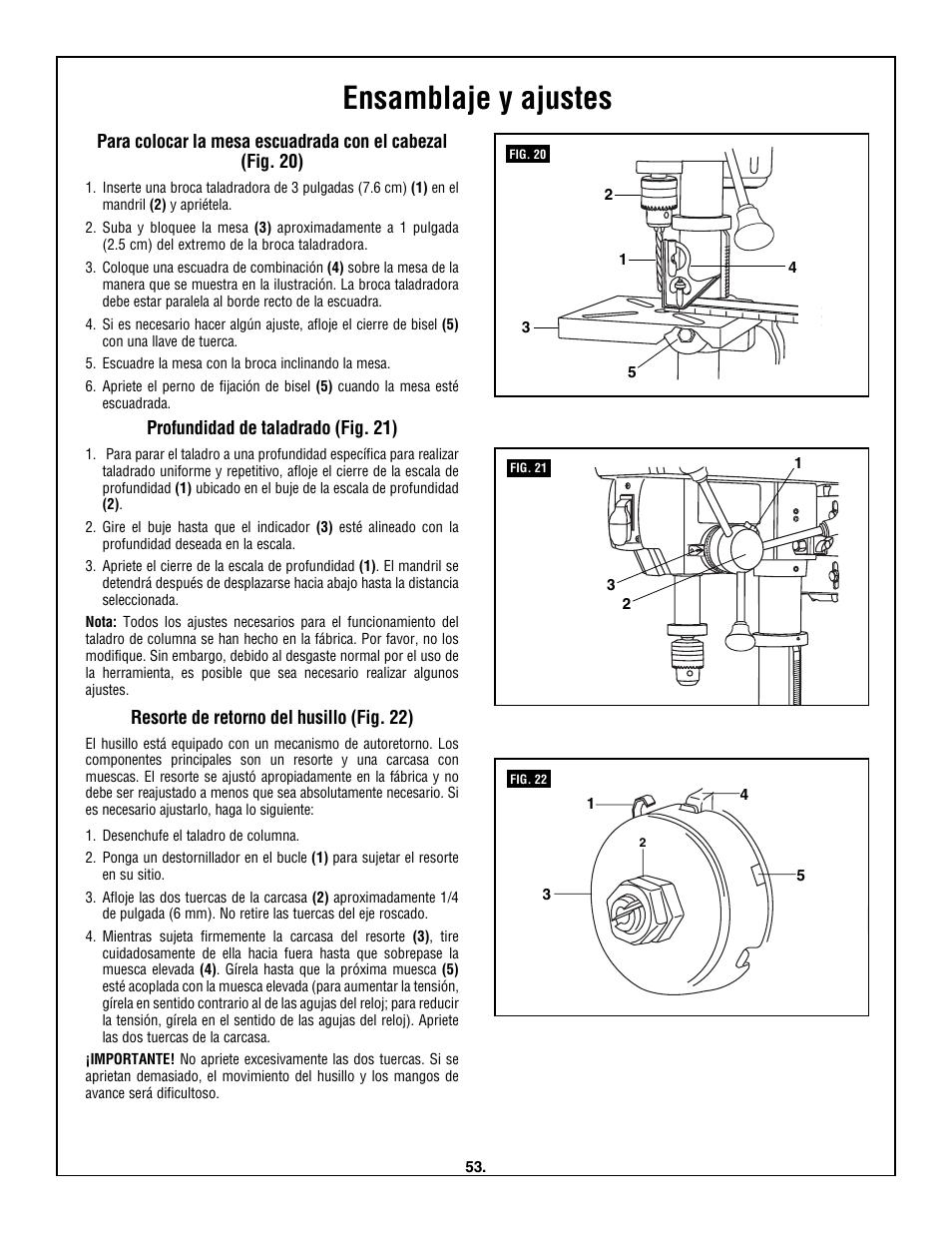 ensamblaje y ajustes skil 3320 01 user manual page 53 60 rh manualsdir com
