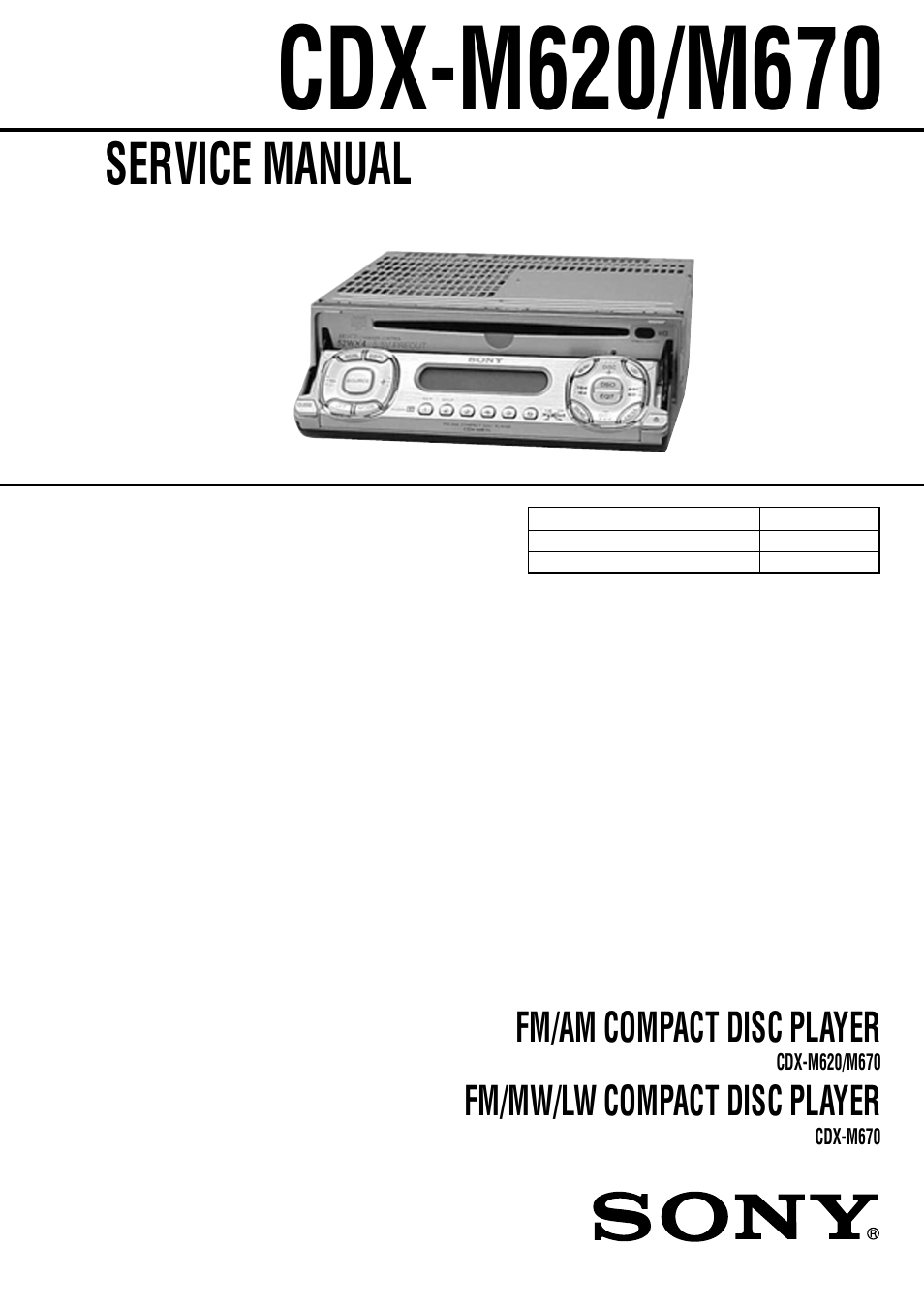sony ericsson cdx-m620 user manual | 78 pages  manuals directory