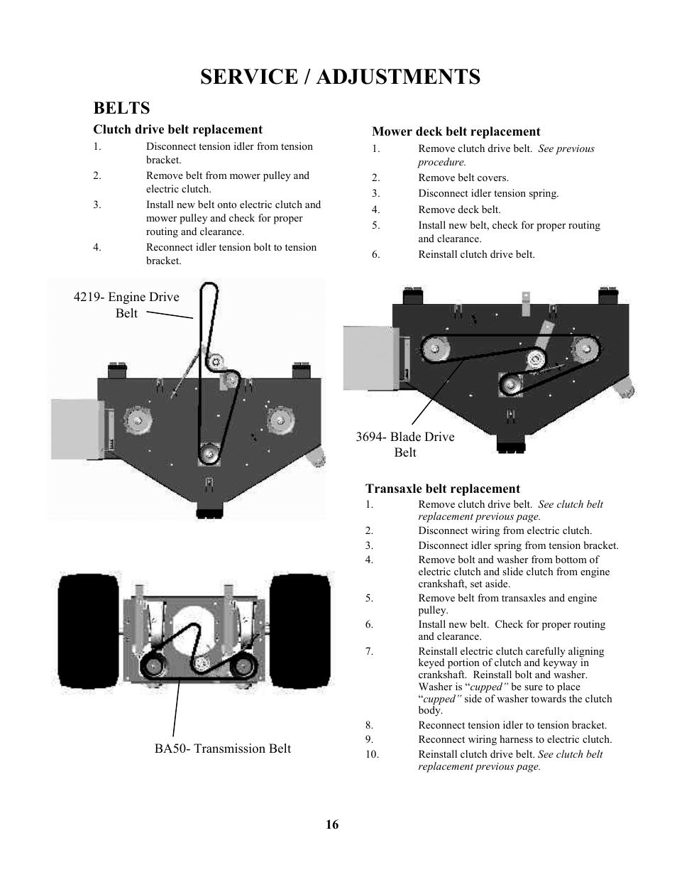 Service Adjustments Belts Swisher Zt17542 User Manual Page 16 Wiring Harness 24