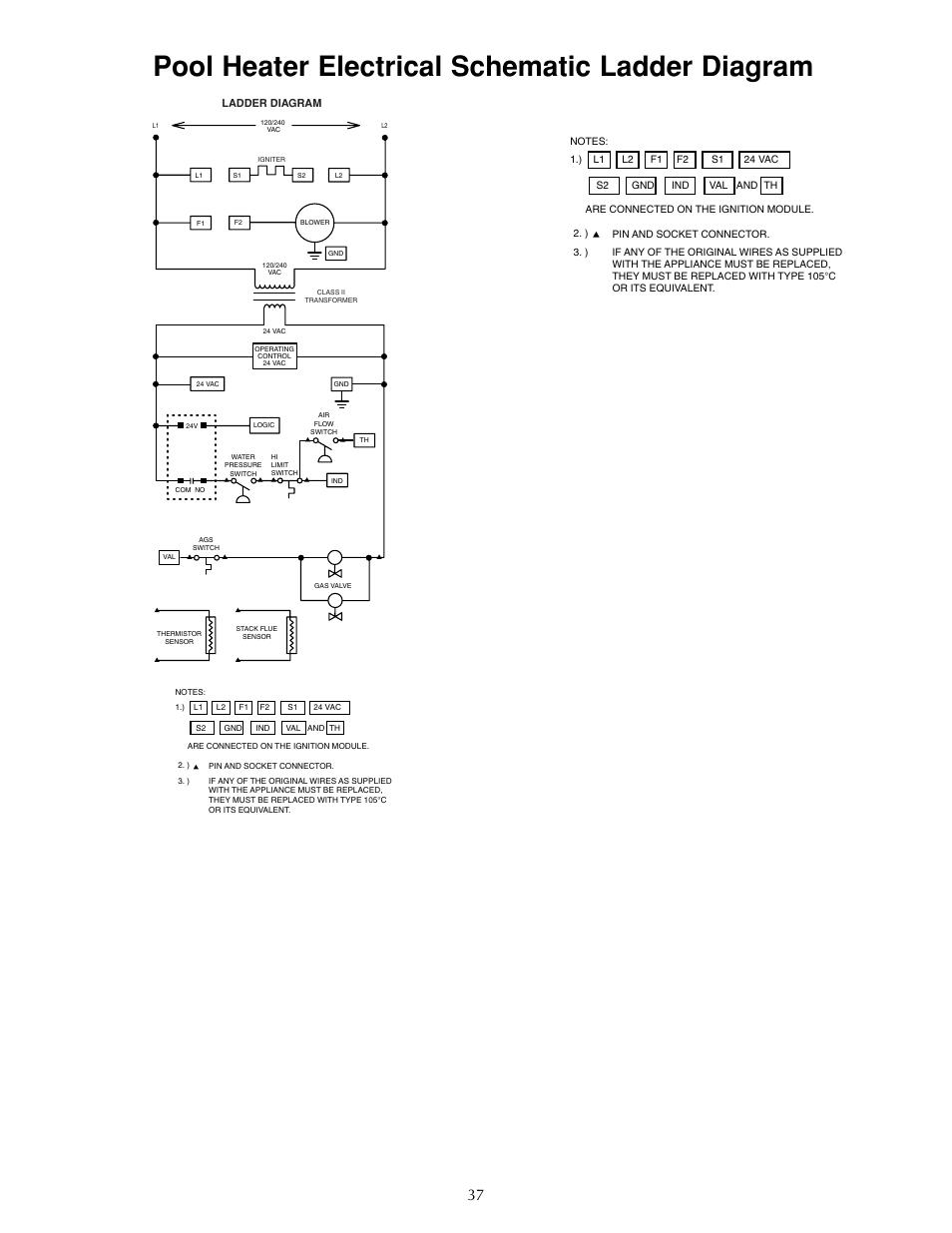 Pool Heater Electrical Schematic Ladder Diagram Sta Rite