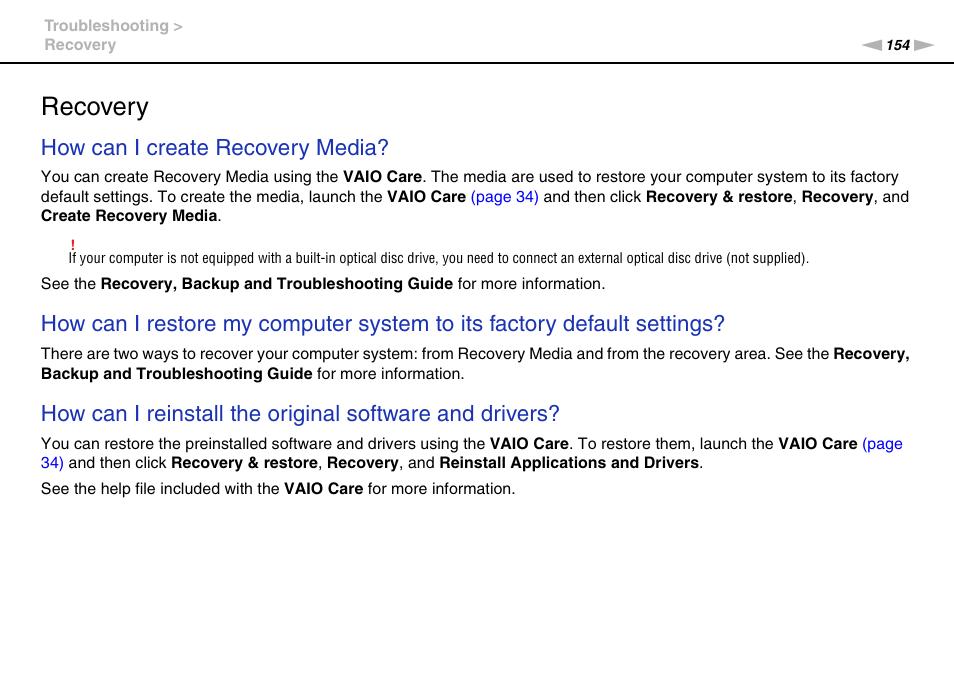 recovery how can i create recovery media sony vaio vpcs13 user rh manualsdir com Sony Vaio Laptop Sony Vaio Desktop