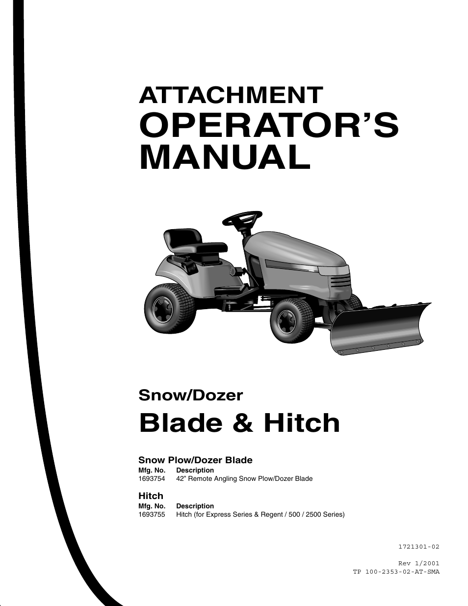 Snapper 1693755 User Manual 20 Pages Also For 1721301 02 1693754 Hitch Snow Plow Wiring Diagram Power