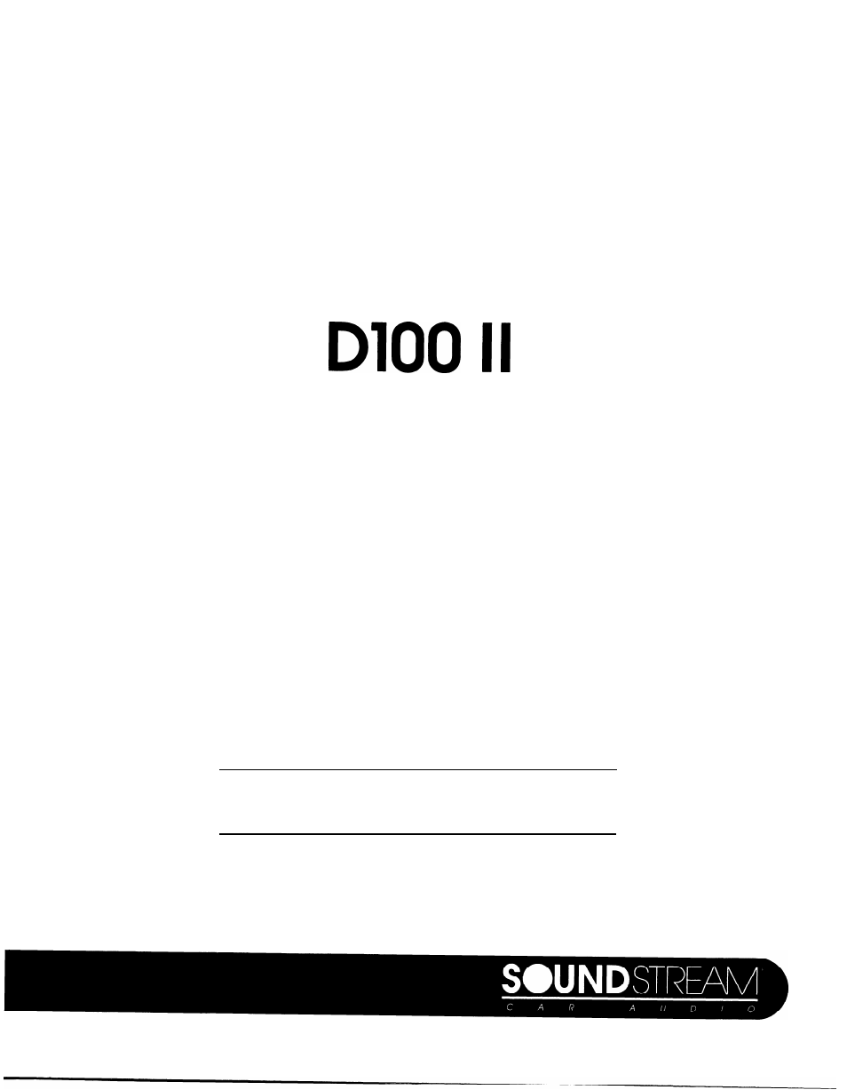soundstream technologies d60 ii user manual 7 pages also for rh manualsdir com