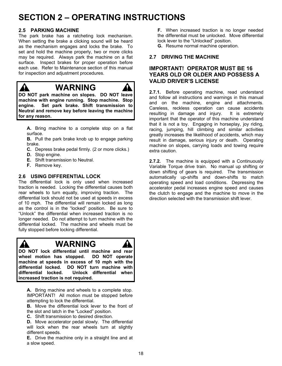 Warning   Simplicity UVGT1621BV User Manual   Page 18 / 36