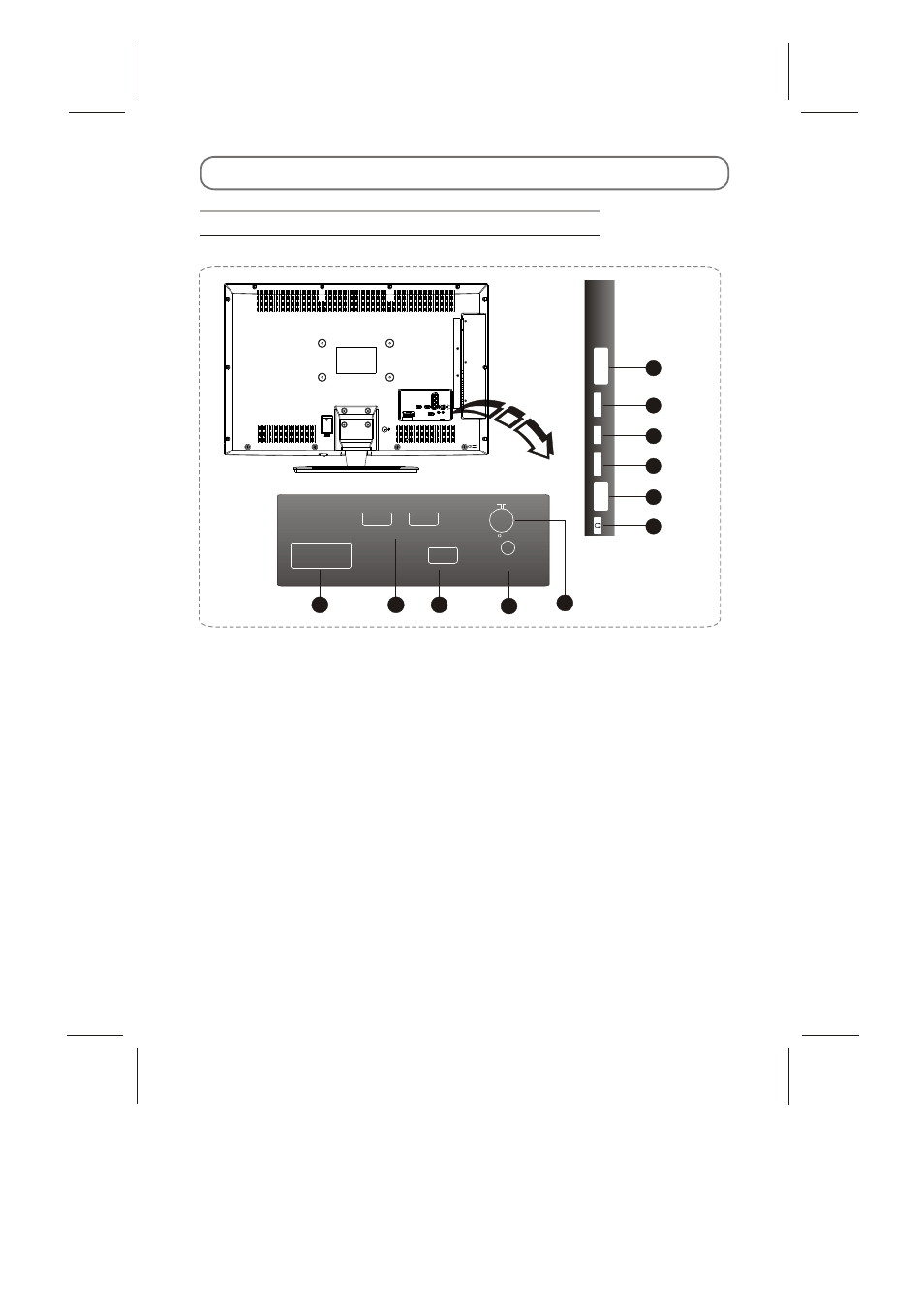 External schematic and installation, Back panel | Skyworth LED-32E60 ...