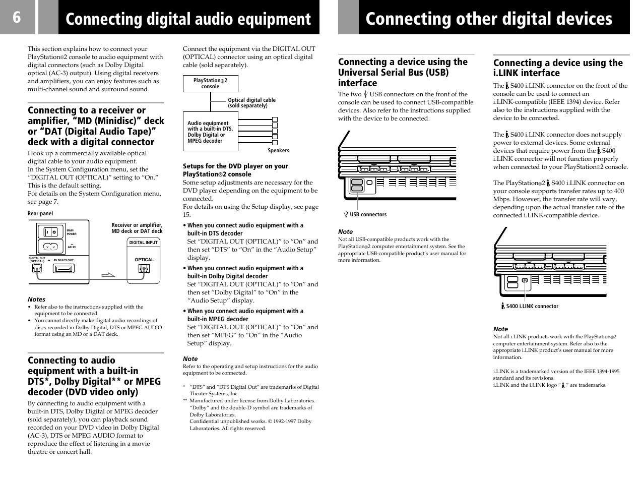 connecting digital audio equipment connecting other digital devices rh manualsdir com sony ps2 user manual Sony DAV HDX576WF Manual