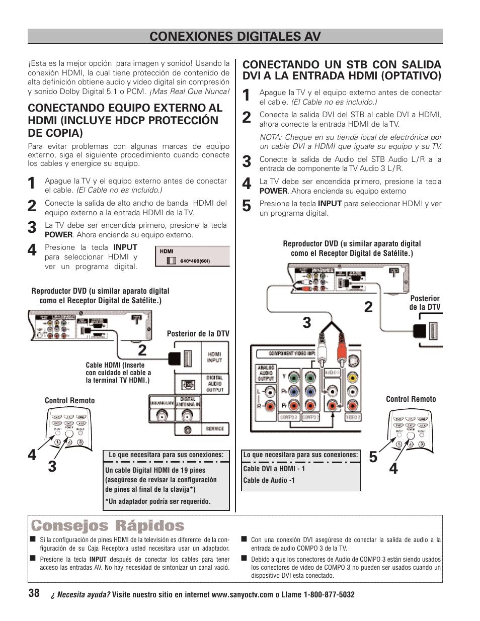 ... Array - conexiones digitales av sanyo ht32744 user manual page 38 62 rh  manualsdir com