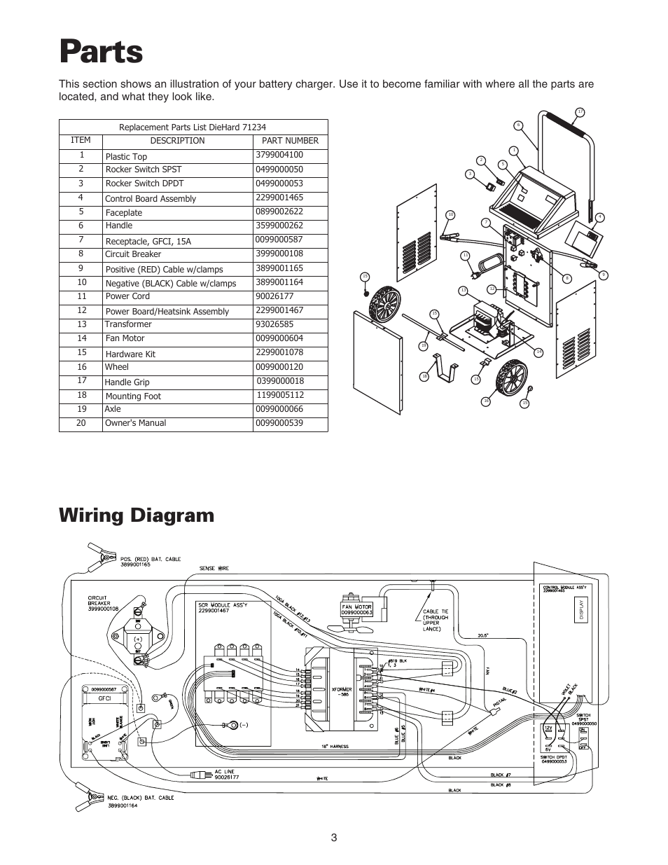 Parts Wiring Diagram Sears 20071234 User Manual Page 4 15 Motor Wire For Craftsman