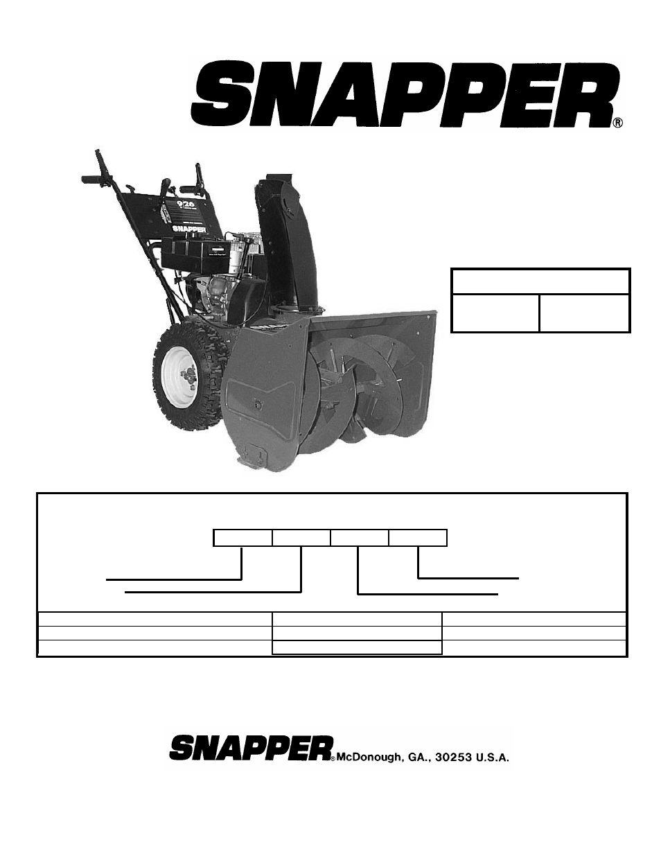 Snapper 8246 User Manual 24 Pages Also For 9266e 11306 9266 John Deere Lx188 Engine Diagram