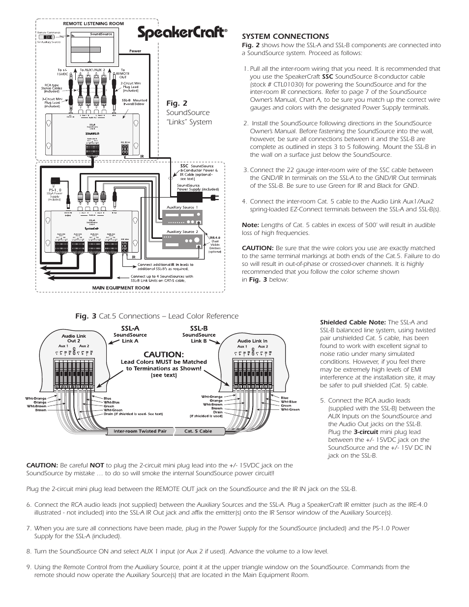 speakercraft speakercraft ssl b user manual page 2 2 rh manualsdir com Wiring Diagram Symbols speakercraft ir receiver wiring diagram