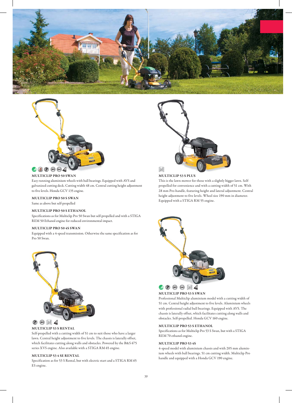 Stiga Garden Range Primo User Manual | Page 39 / 76